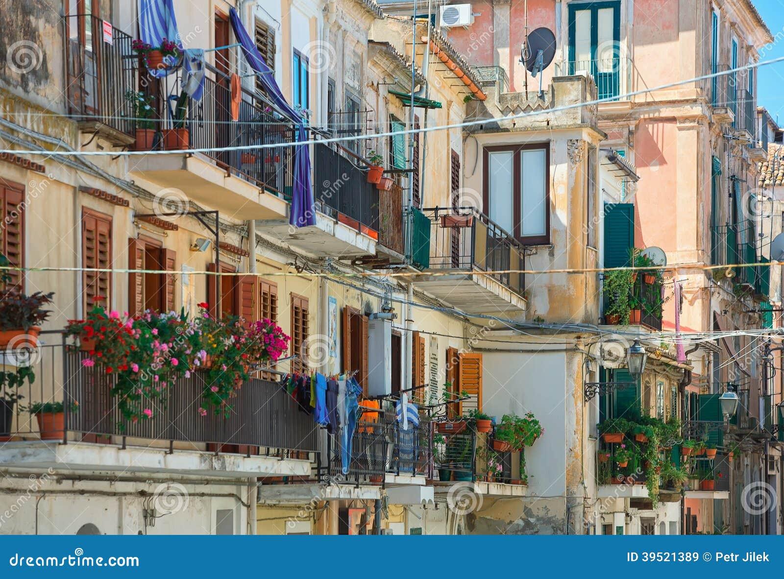 Balcons de Traditionall en Italie