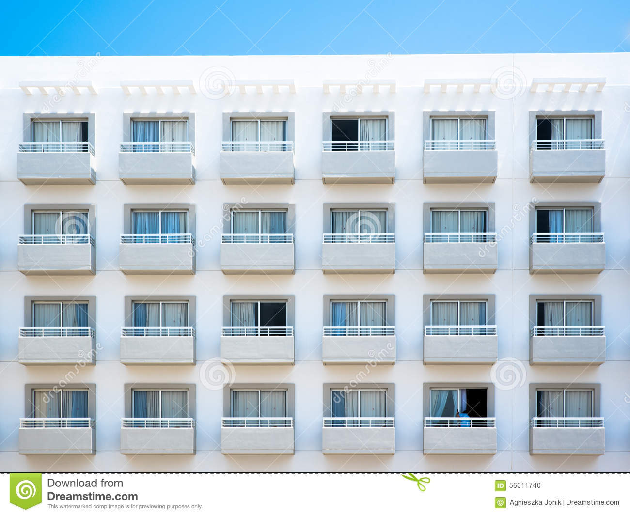 Balcony Of Apartment Building Stock Photo Image