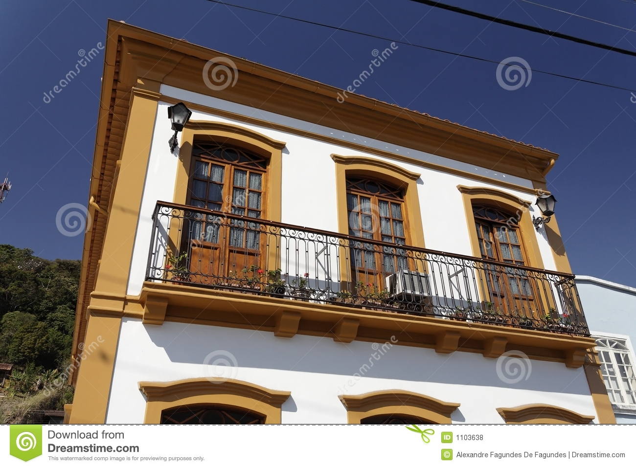 Balcony of a building in sao francisco do sul royalty free for Balcony 412 sul