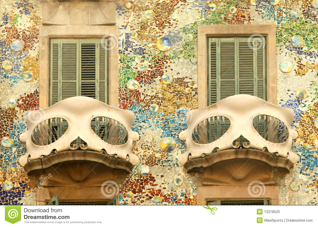 Balcony of Casa Batllo in Barcelona