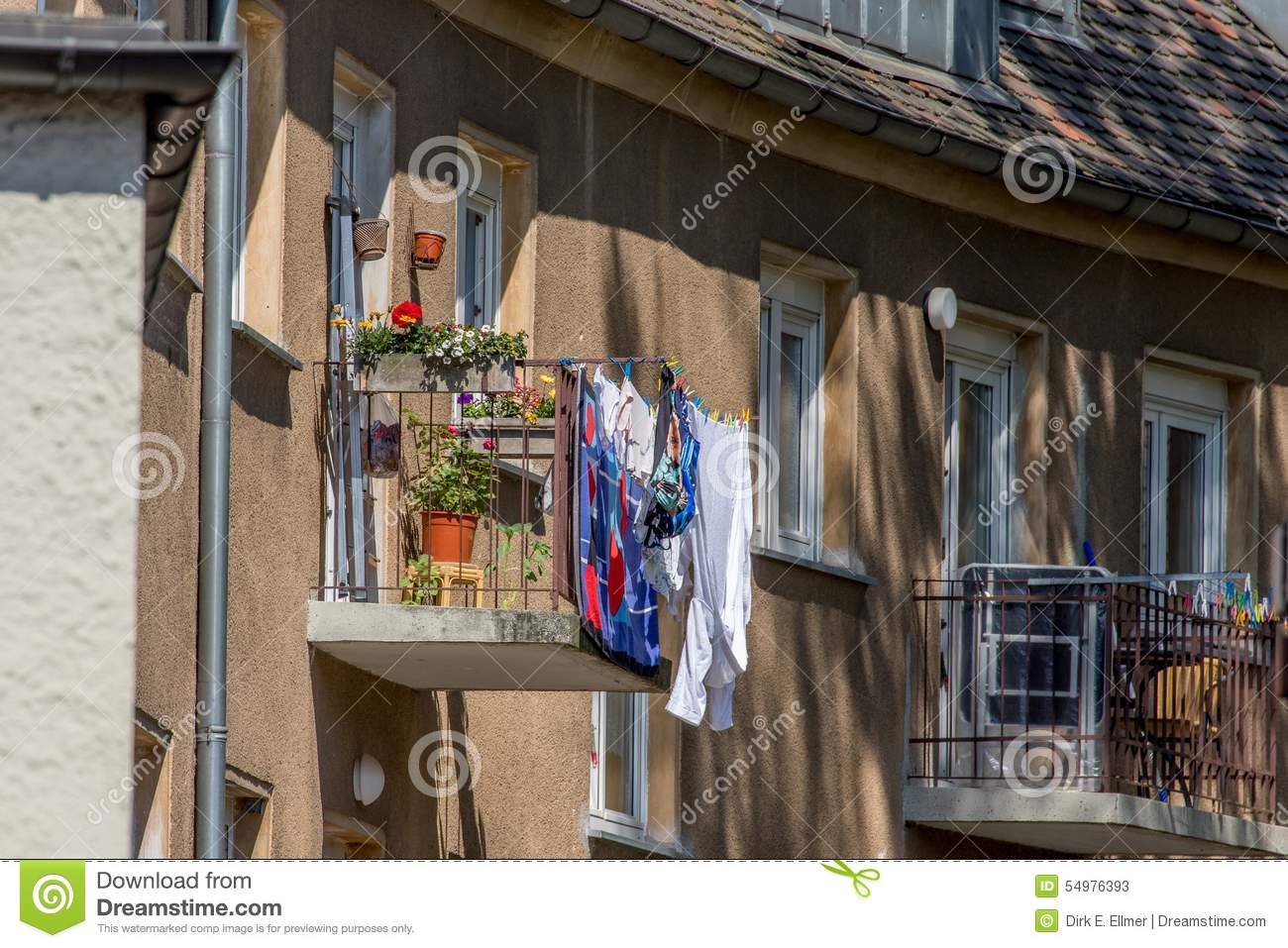 Balcony - clothes drying rack