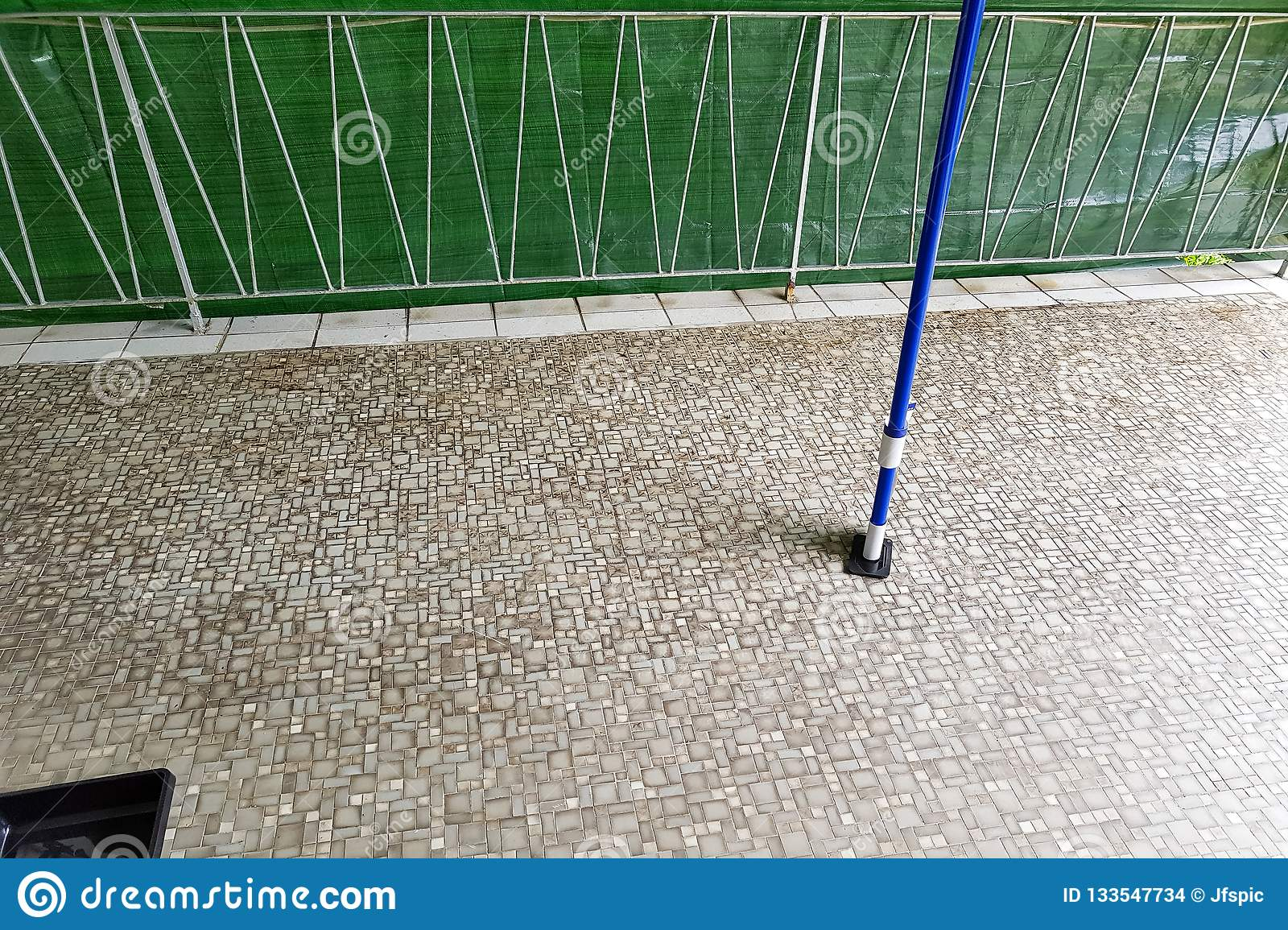 Balcony Floor Tiles Installation Stock Photo Image Of Brush