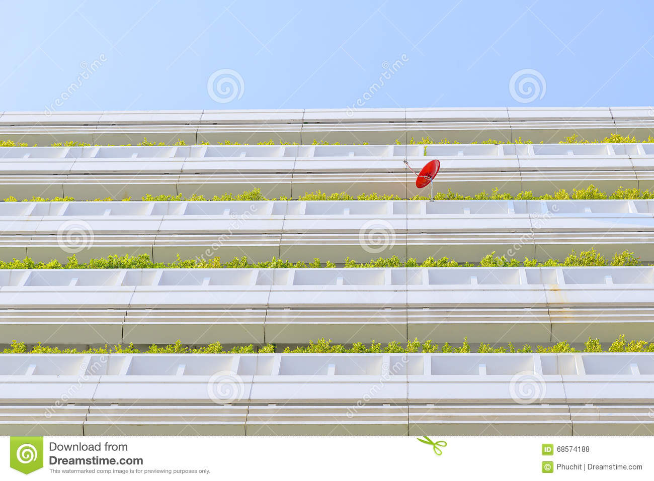 Balcony garden of the building stock photo image 68574188 for Balcony underside