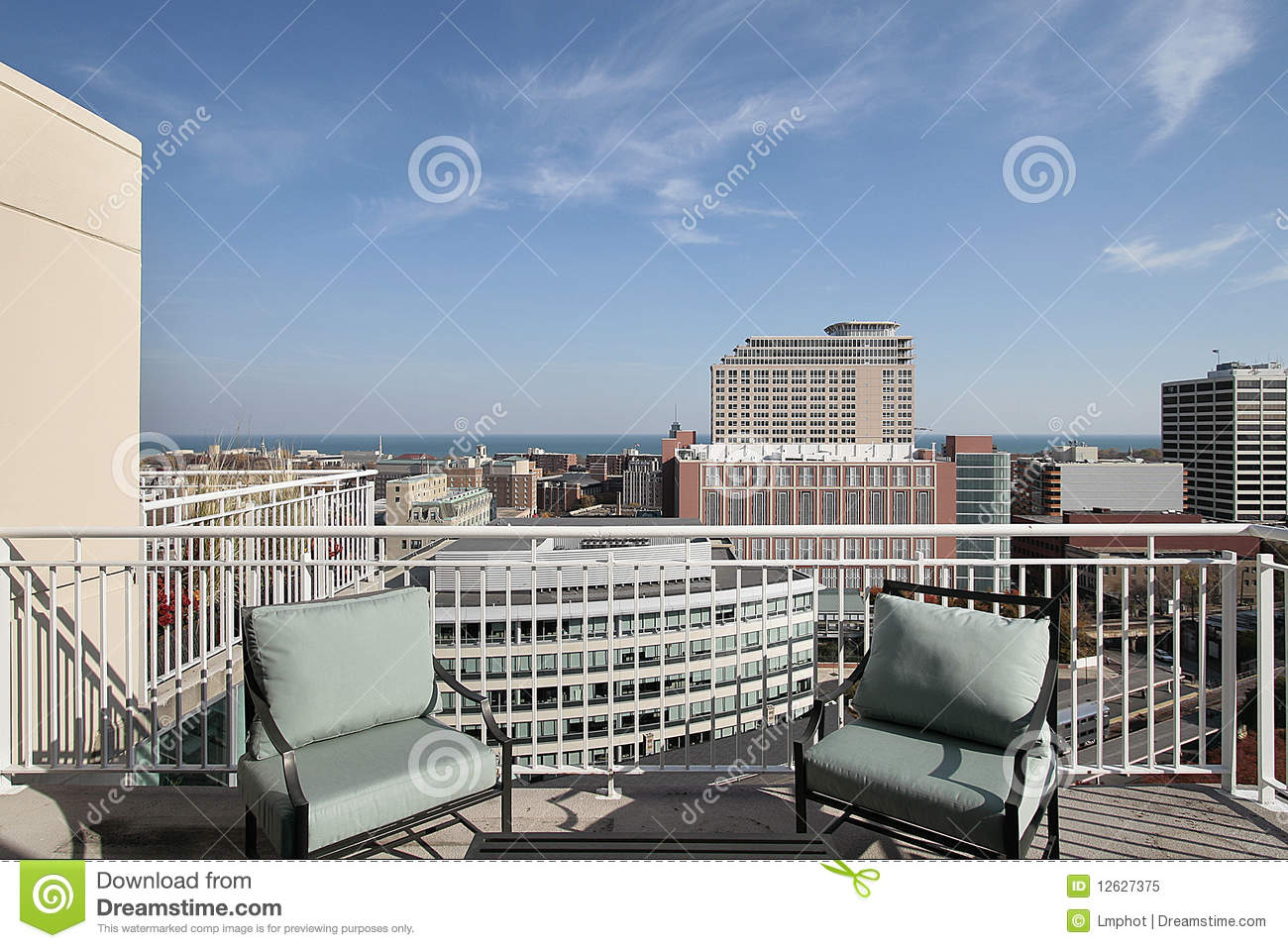 Balcony with lake view stock image image of building for Balcony with view