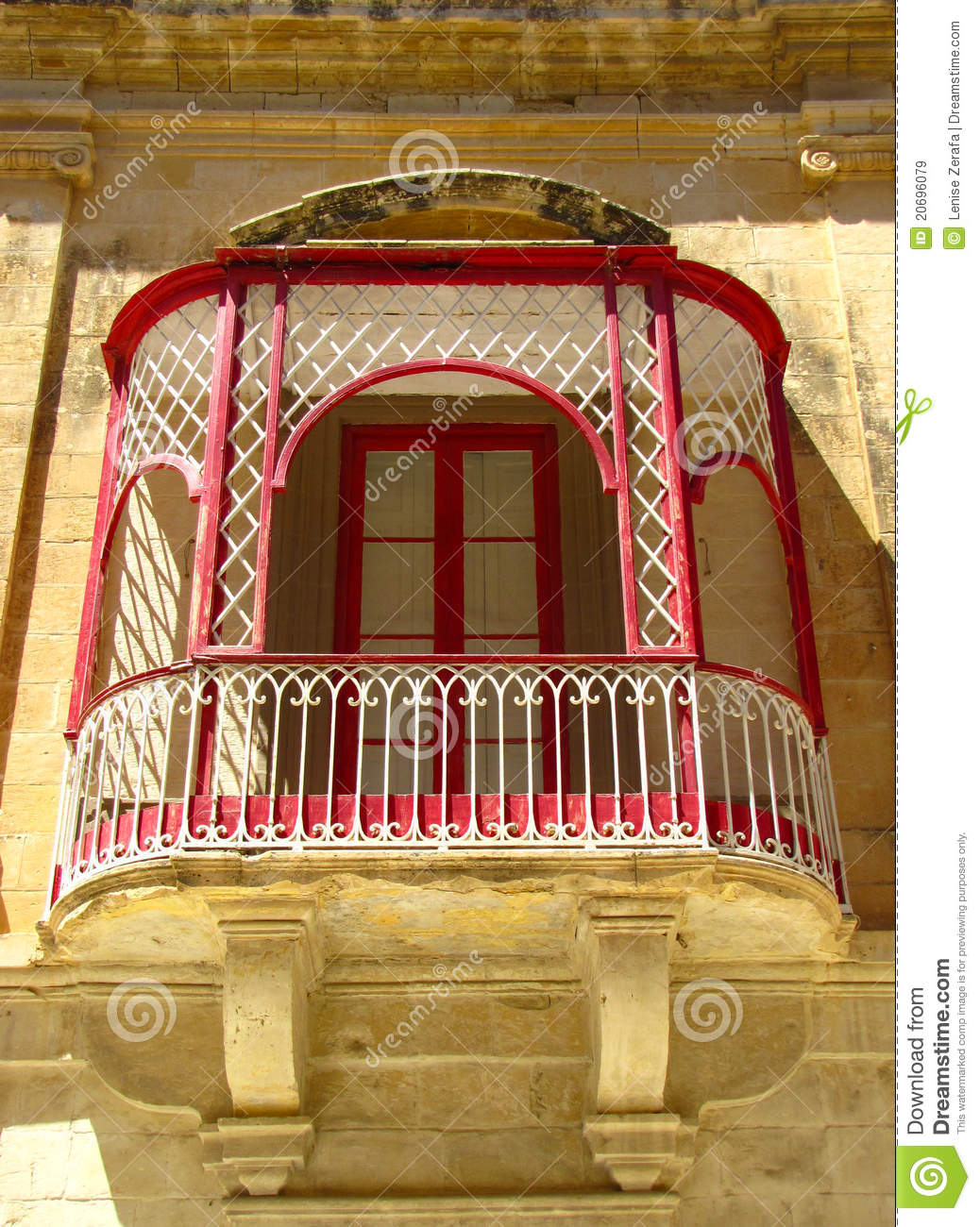Balcony in mdina malta stock image image of culture for Balcony history