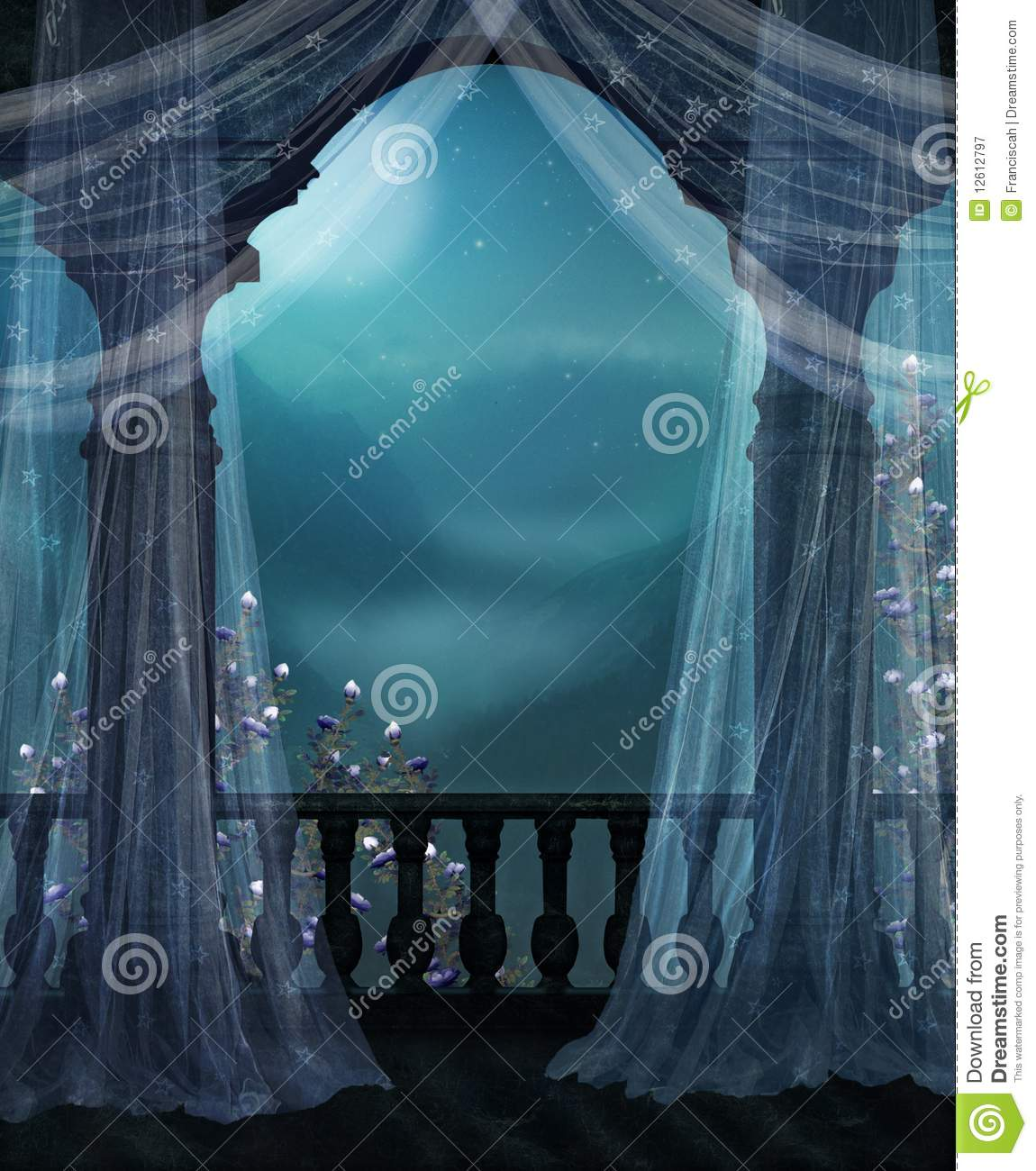 Balcony at night royalty free stock photography image for Balcony at night