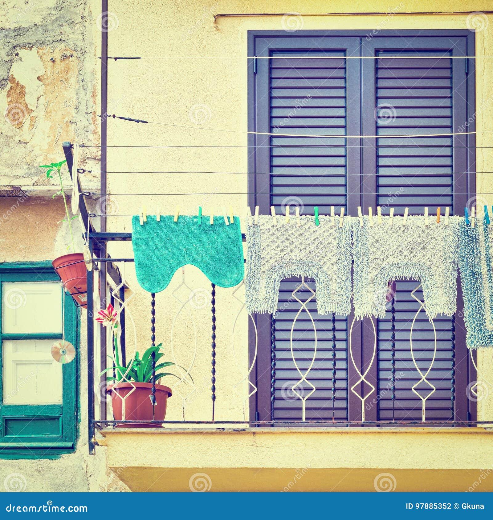 Balcony In Palermo Stock Photo Image Of Balcony Home 97885352