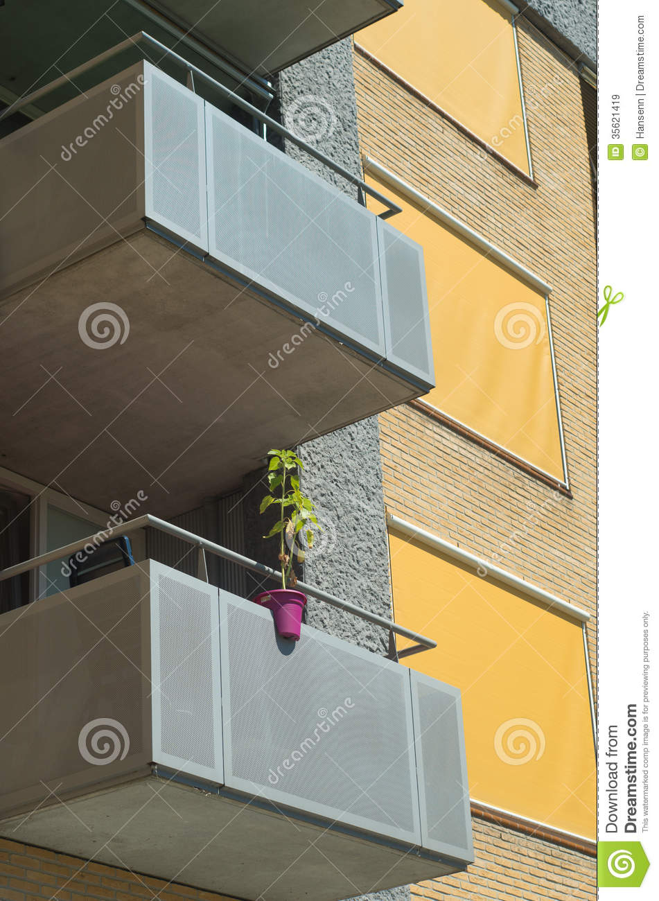apartment balcony plants Balcony With Plants Stock Image Image Of Apartment Nobody