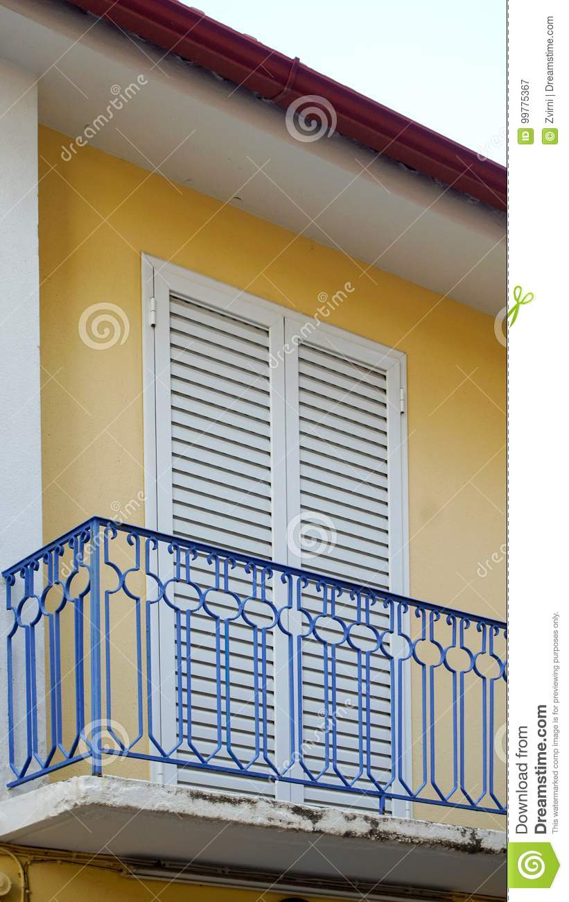 Balcony and shutters