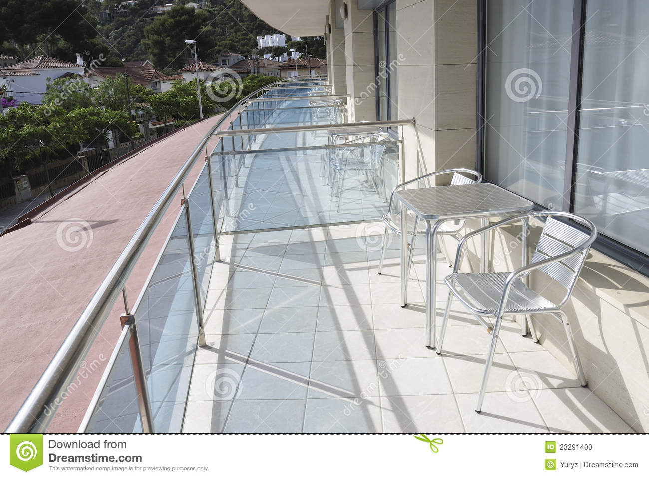 Balcony terrace stock photo image 23291400 for Balcony terrace