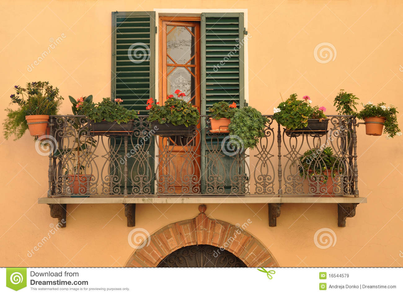 Balcony In Tuscany Royalty Free Stock Images Image 16544579