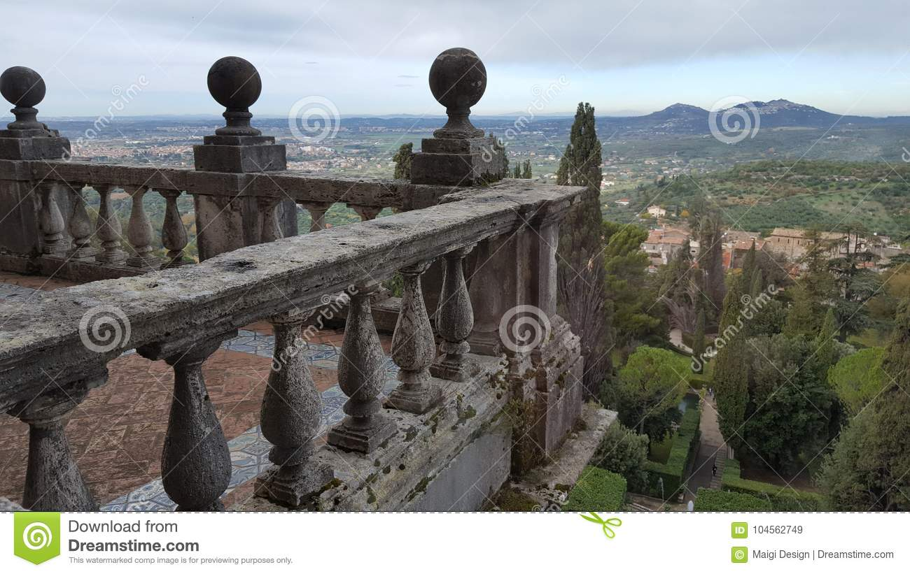 Download View Over Tivoli From Villa D'Este Stock Image - Image of park, sightseeing: 104562749