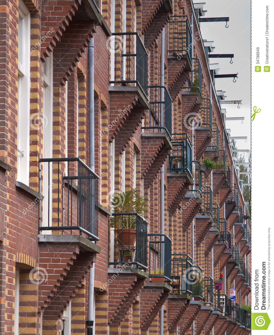 Apartment Wallpaper: Balcony Wallpaper Stock Image. Image Of Exterior, House