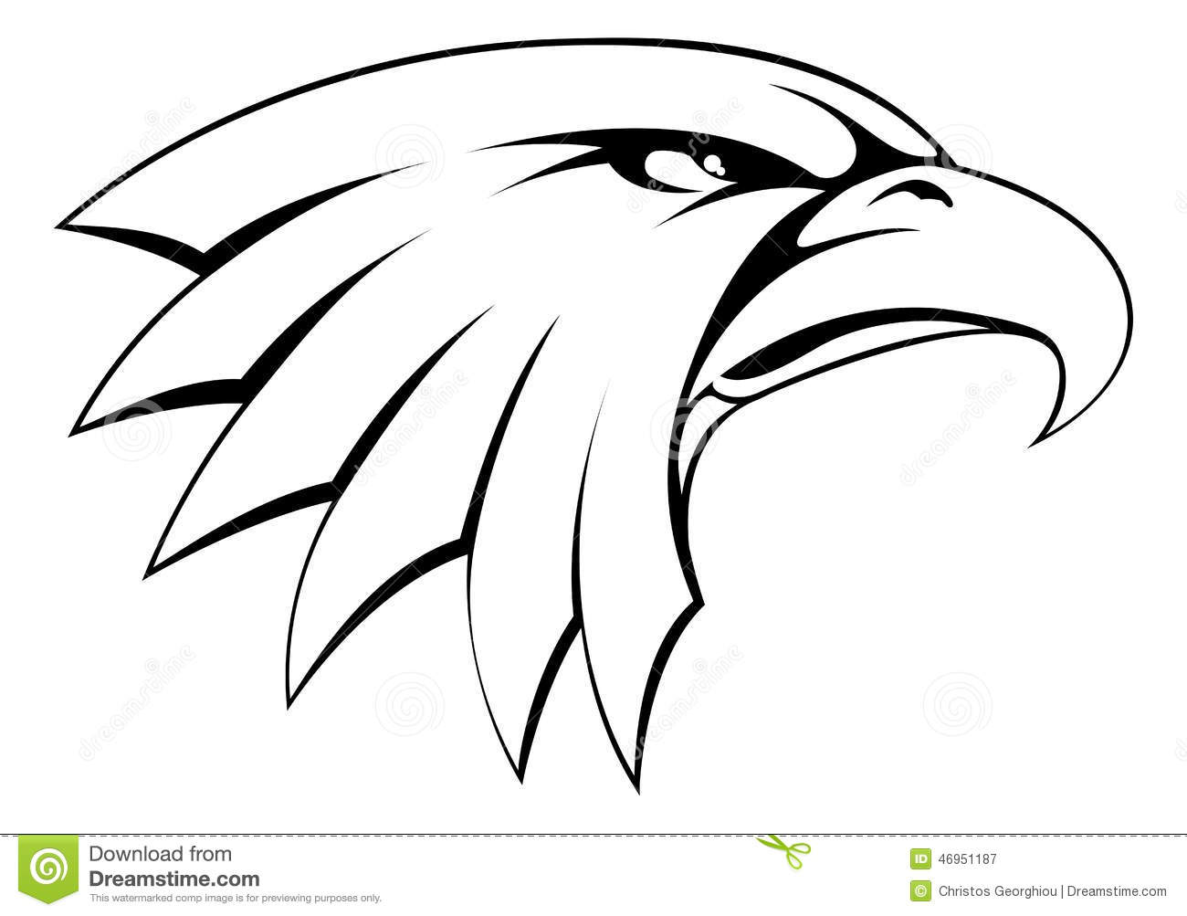 Bald Eagle Head Icon Stock Vector - Image: 46951187