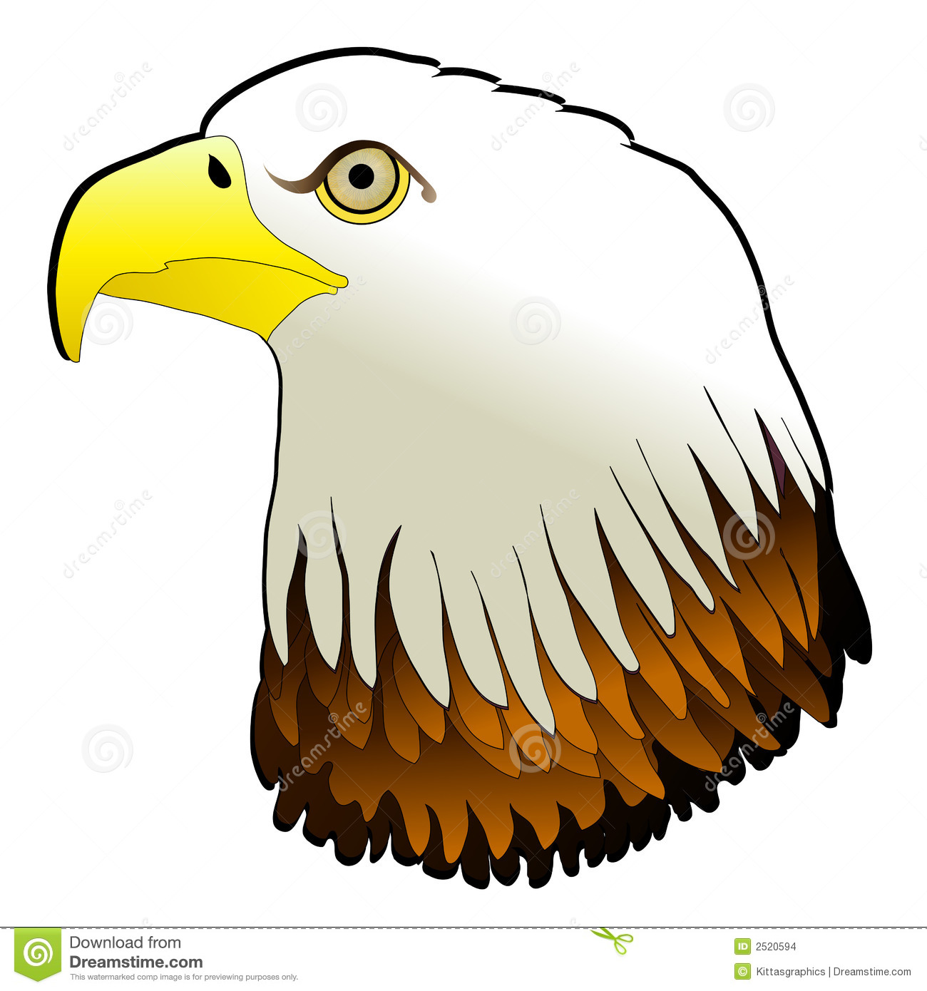 bald eagle powerful bird pray stock illustration image clip art of eagles clip art of eagles soaring