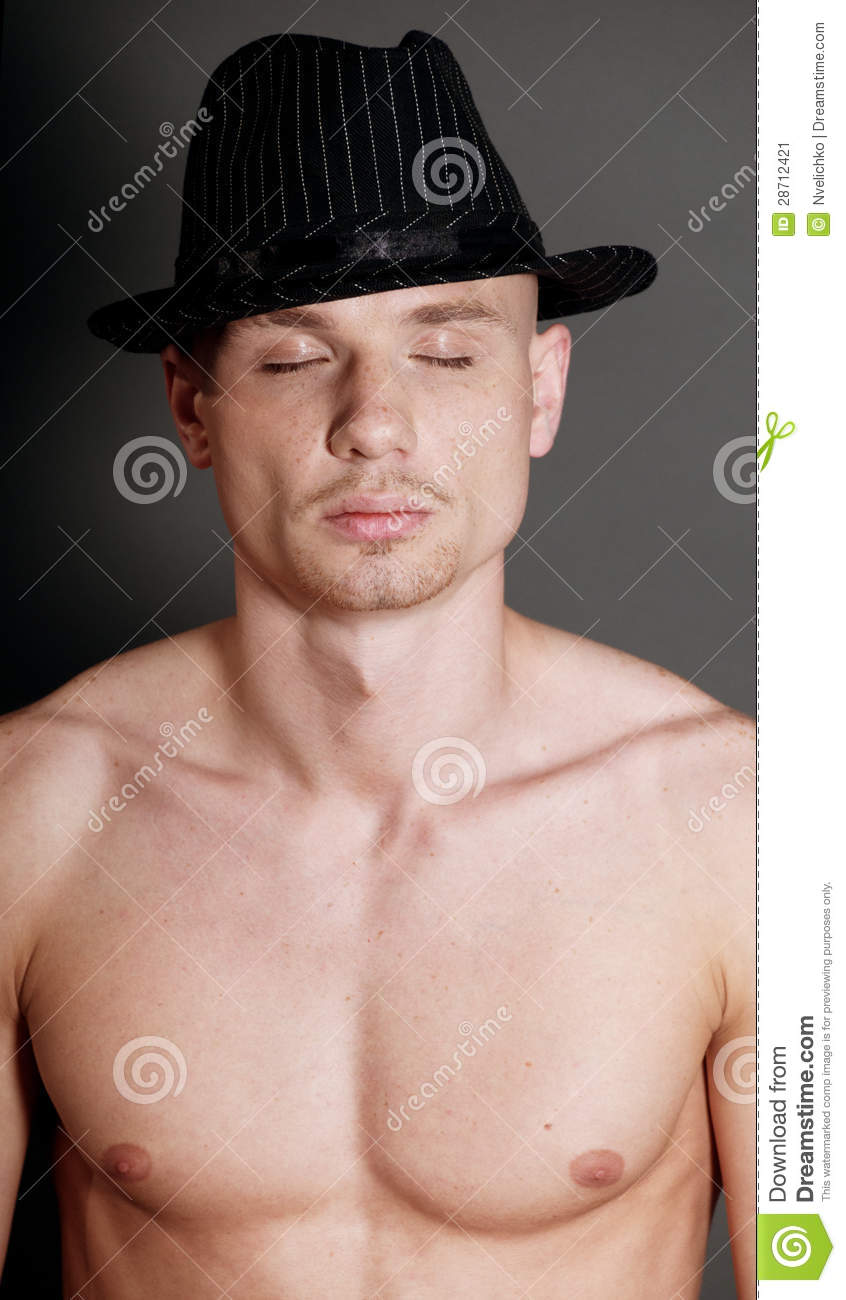 Bald man in black hat stock image. Image of person eaf4aa7ffd0