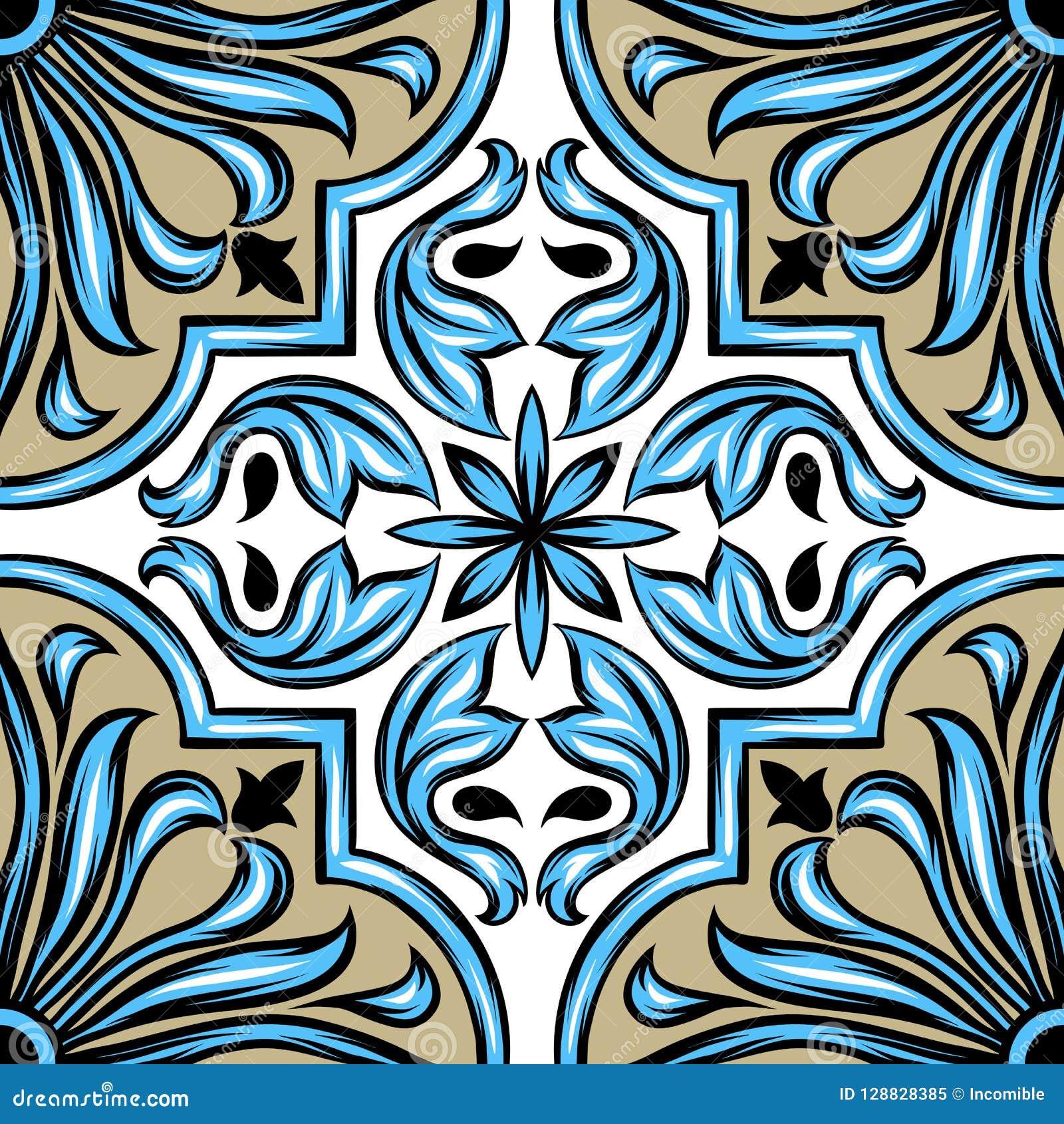 Baldosa cerámica del azulejo portugués