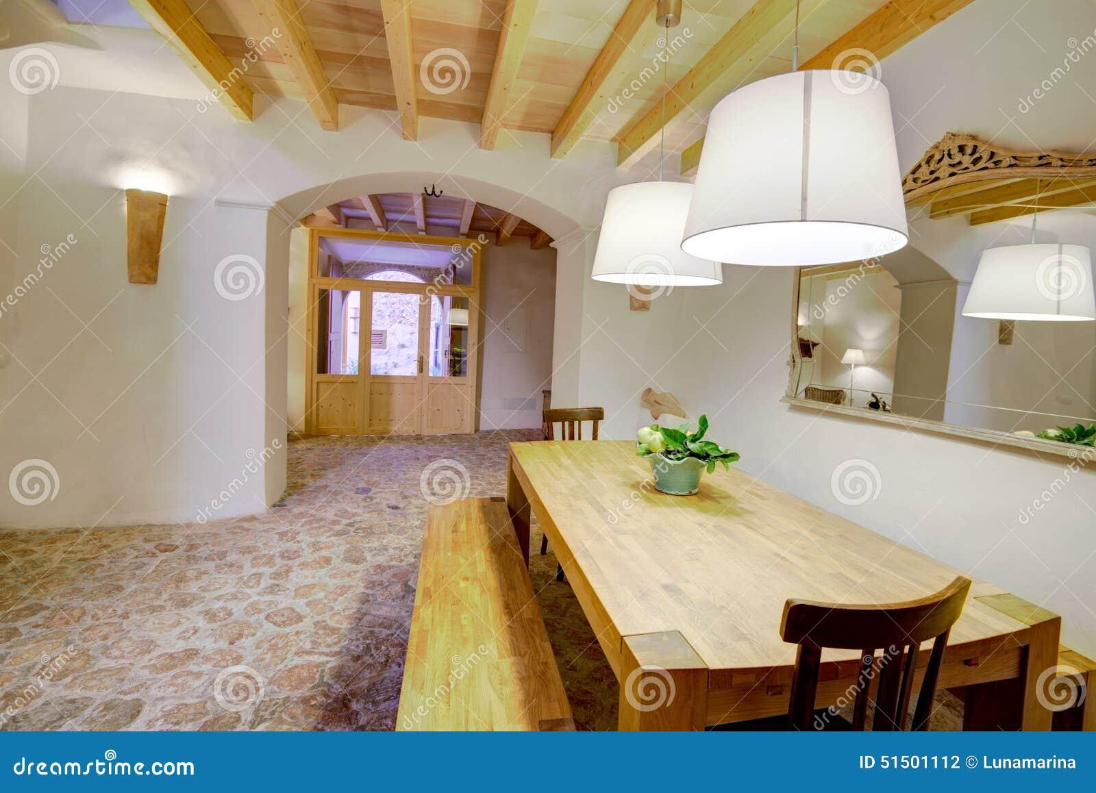 Balearisches Innenhaus Majorca In Der Balearischen Mittelmeerart ...