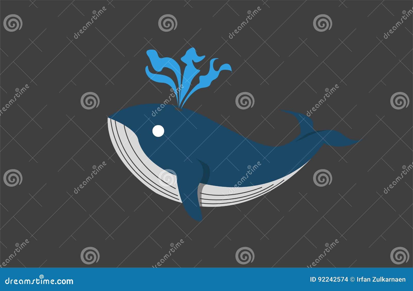 Baleia azul lisa
