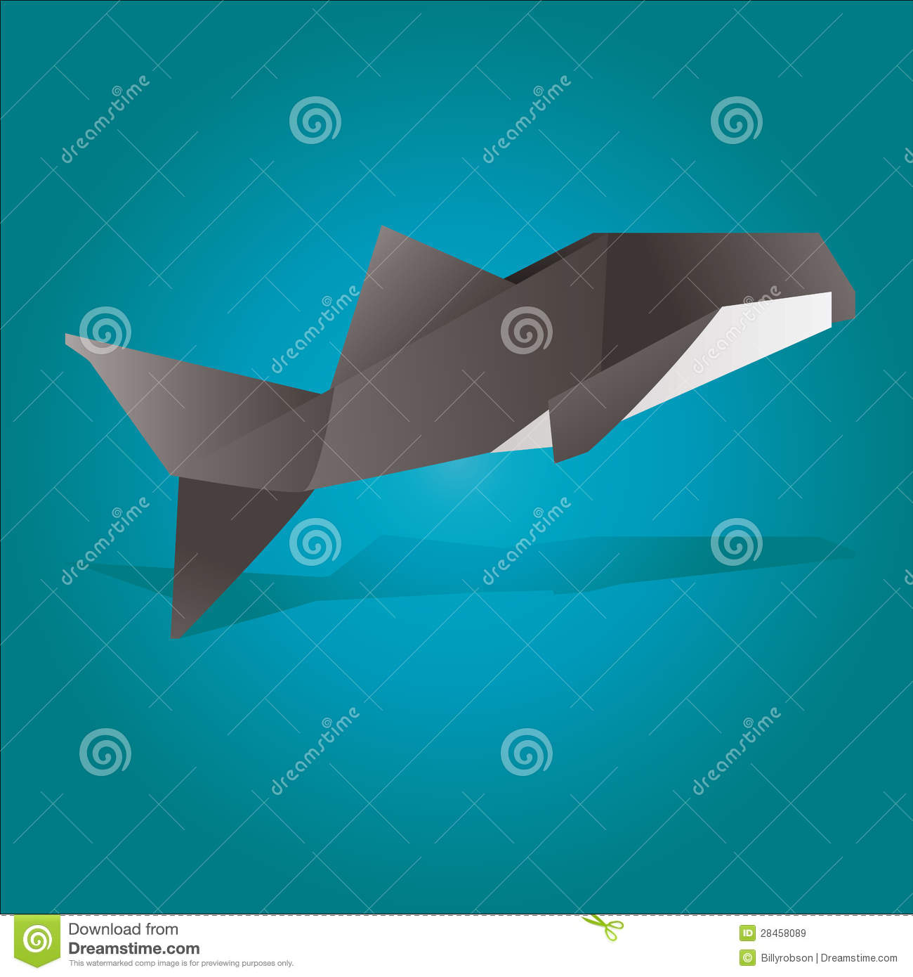 Baleia De Assassino De Origami Imagens de Stock Royalty ... - photo#28