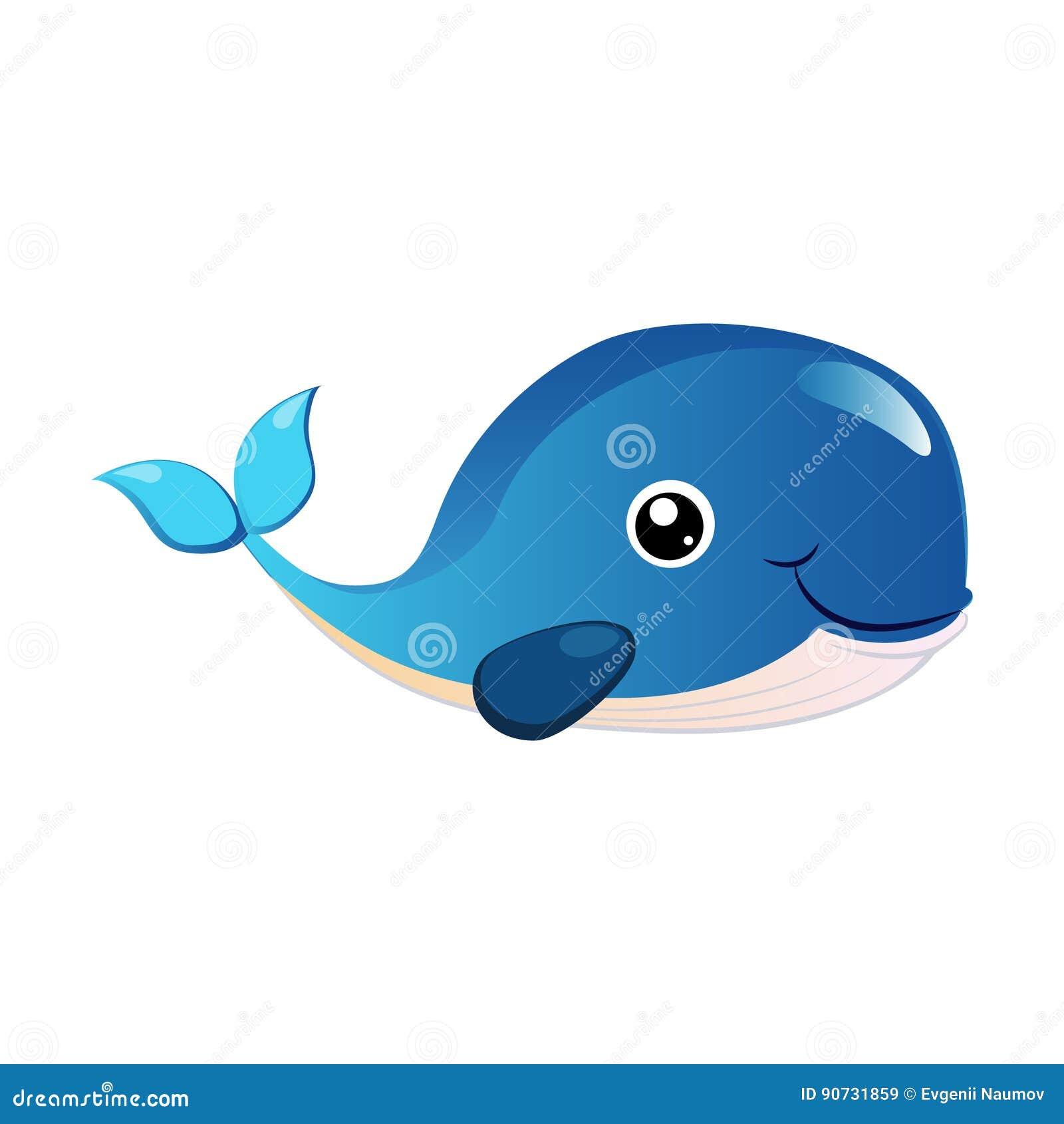 Baleine De Bosse Bleue Creature De Mer Personnage De Dessin Anime