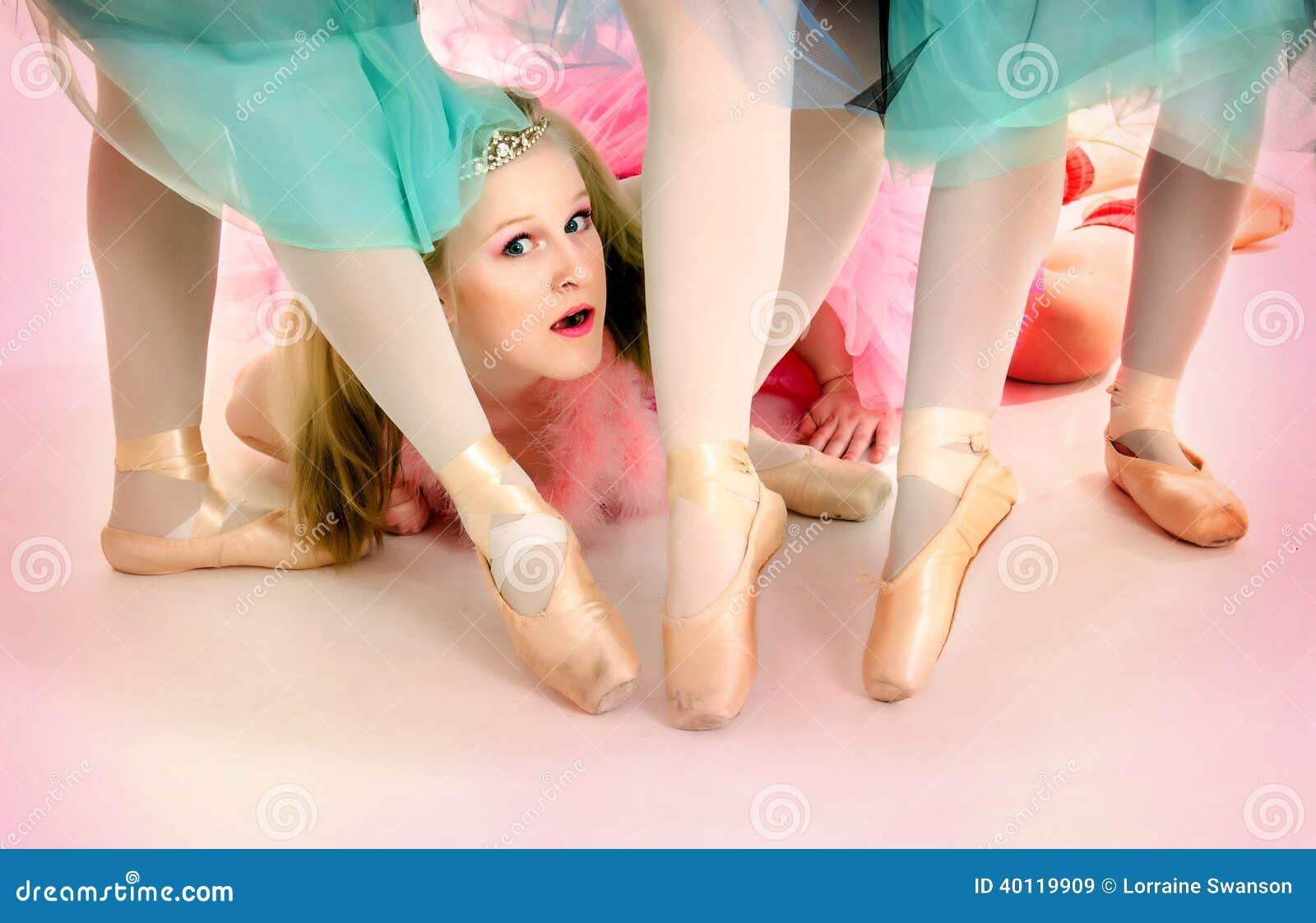 Baleriny Wskazują Twój palec u nogi