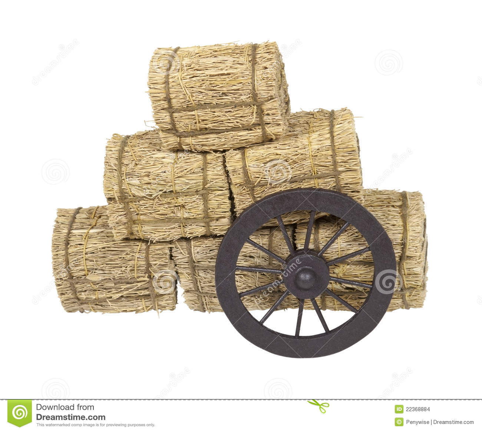 Bales hay полагаясь колесо дилижанса