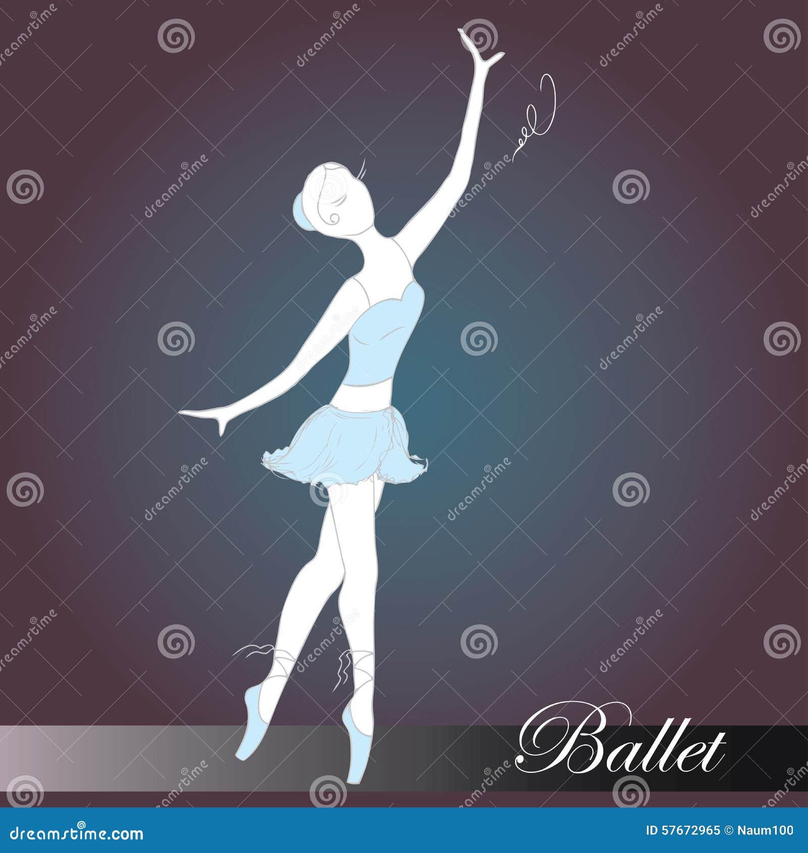 Baletnicza piękna tancerza projekta ilustracja