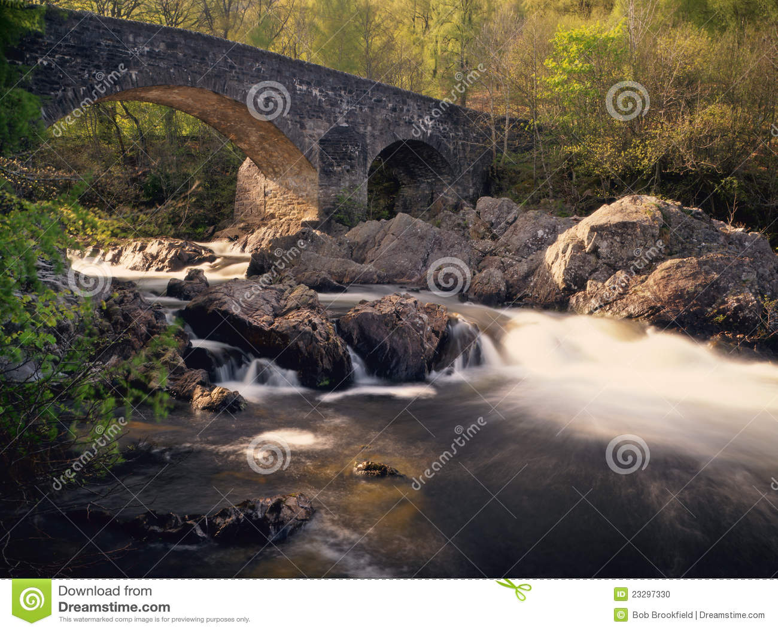 Balgie bridżowy roztoki Lyon perthshire