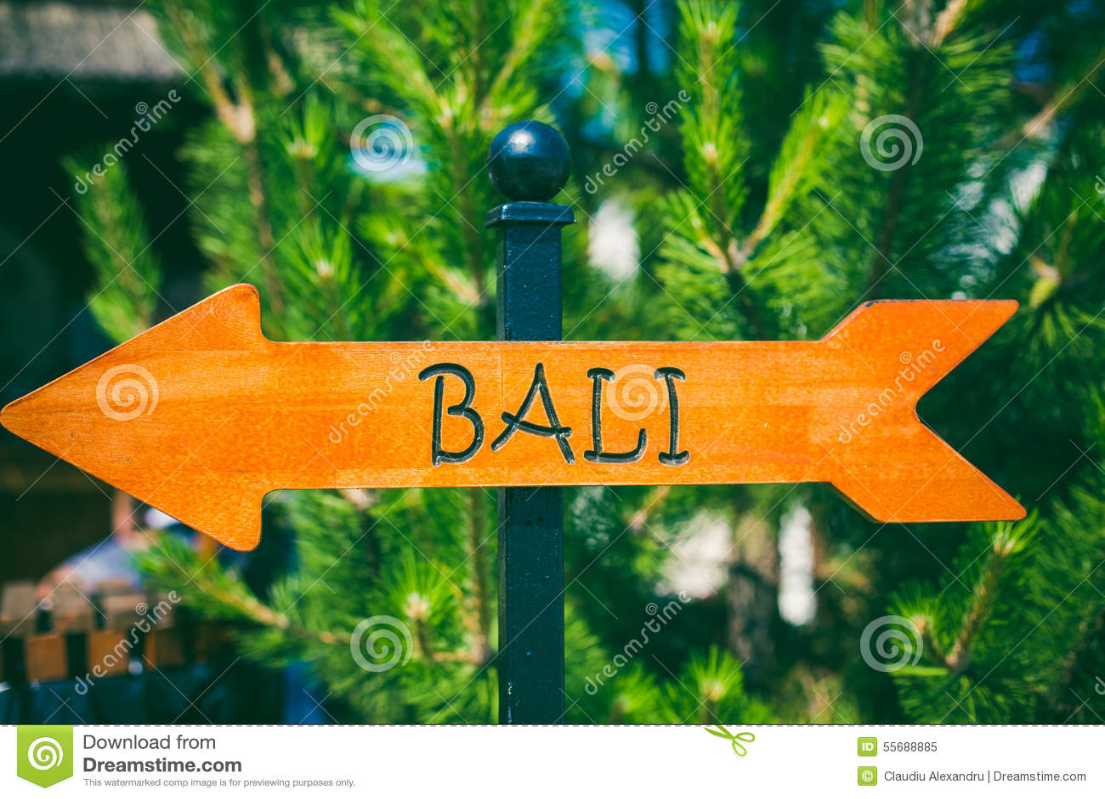 Bali direction sign