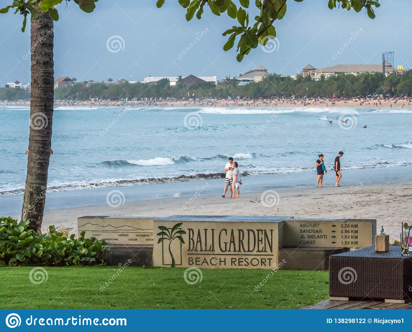 Bali Garden Beach Resort A Popular Place For The Sunset Dinners Editorial Photography Image Of Seascape Blue 138298122