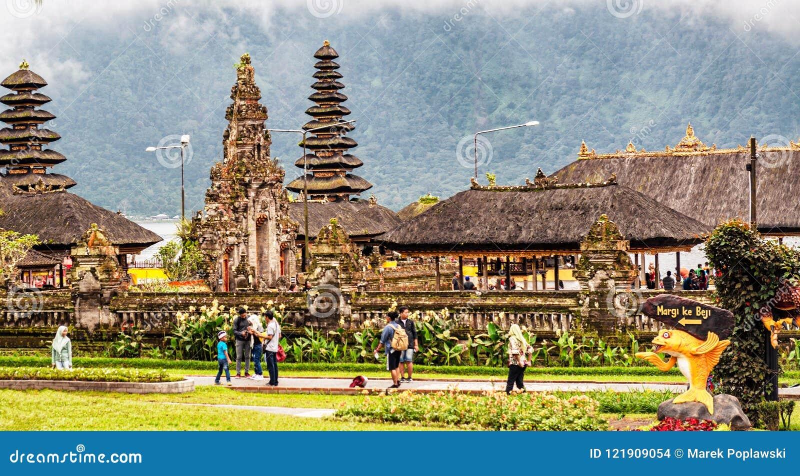 Pura Ulun Danu Beratan Or Pura Bratan Water Temple On Bali Ind