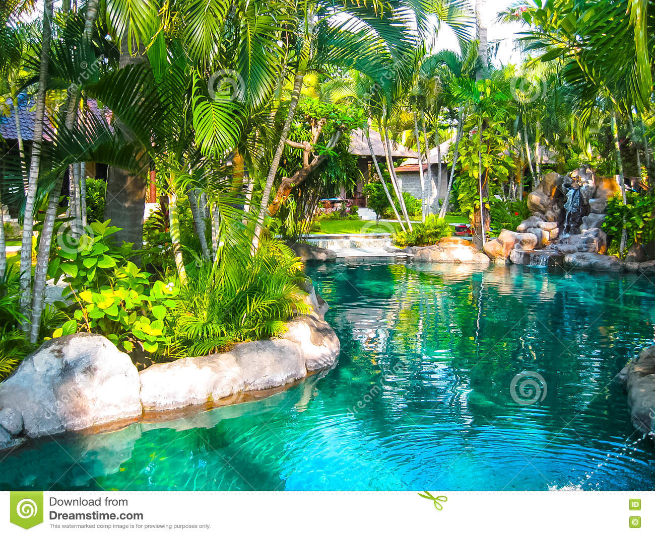 Bali Indonesia April 13 2014 View Of Swimming Pool At Coral View Villas Editorial Photo Image Of Attraction Climate 78855811