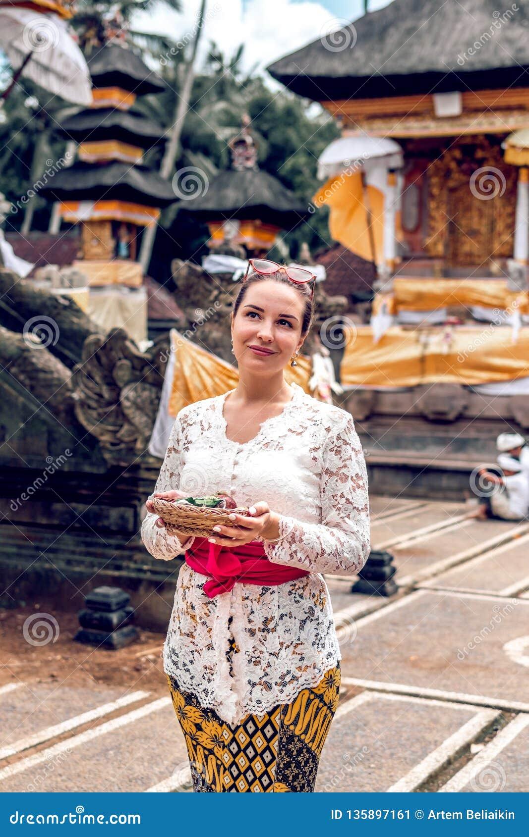 Bali Indonesia December 26 2018 European Woman In