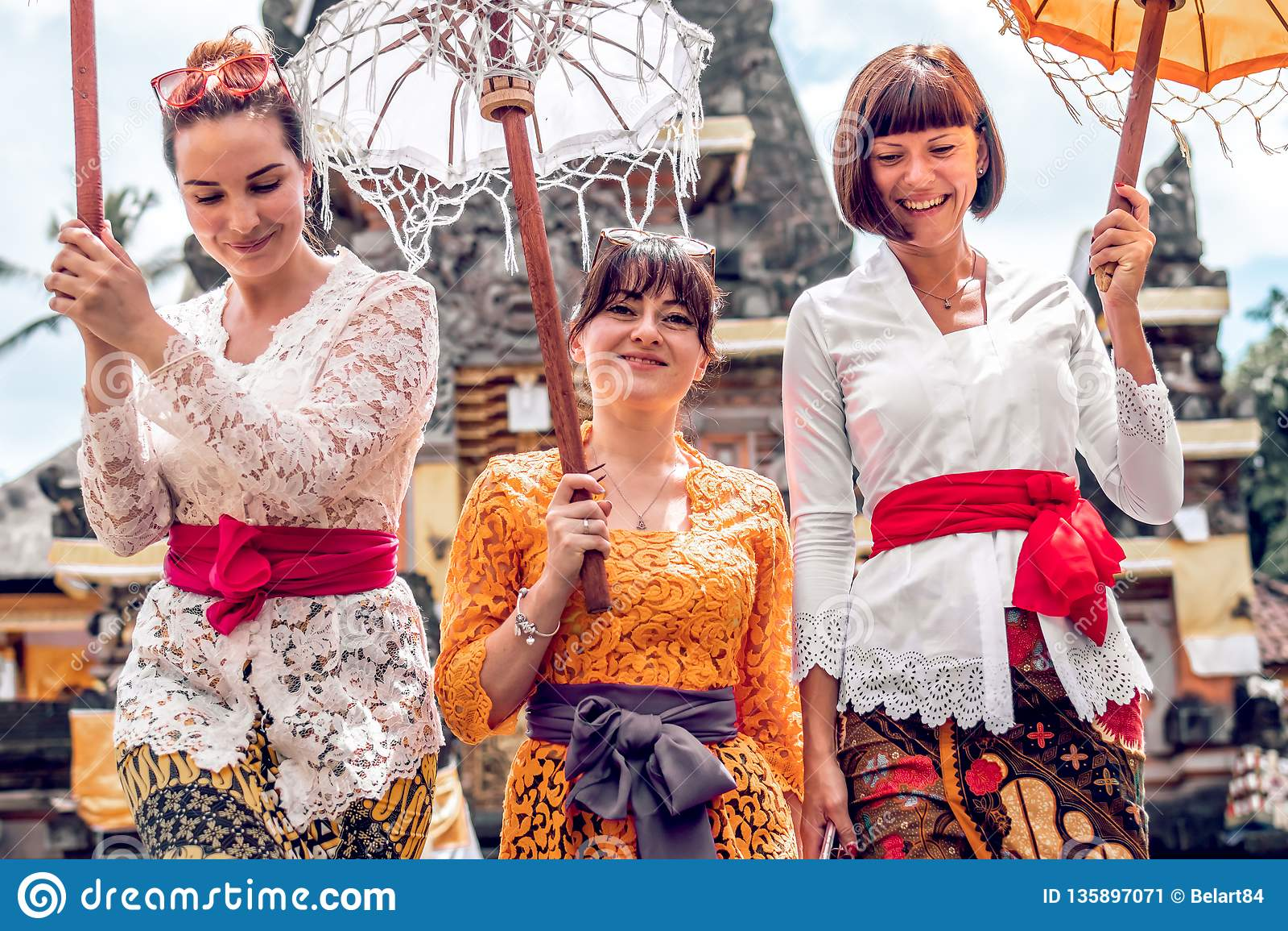 Bali Indonesia December 26 2018 European Women In