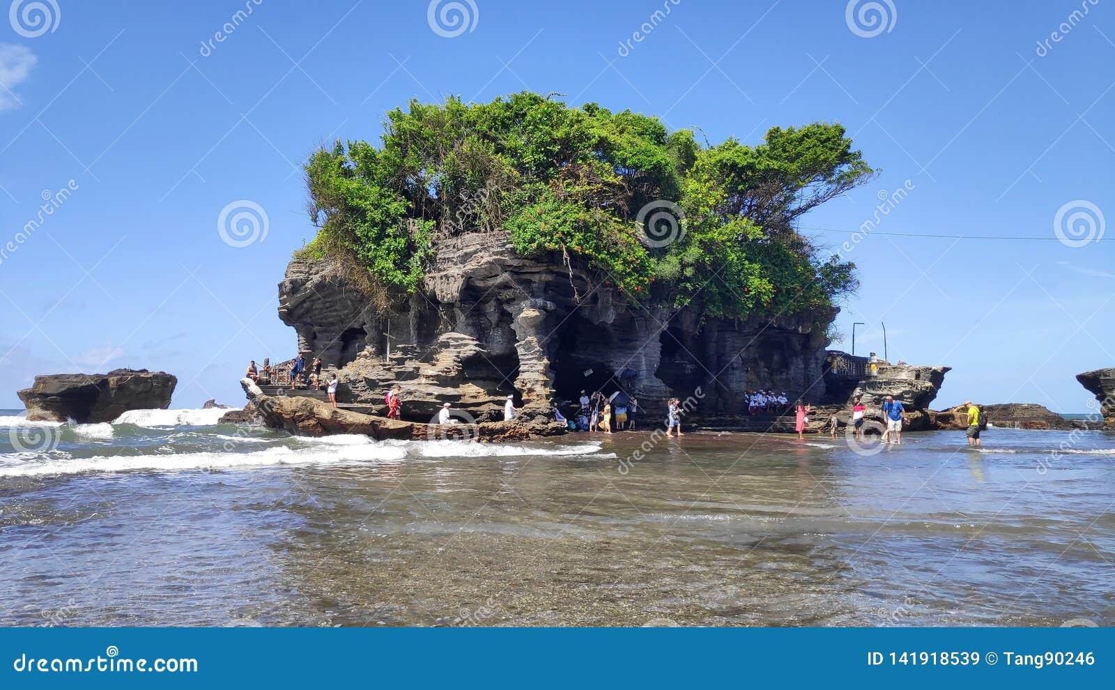 Tanah Lot Water Temple In Bali Island Indonesia Editorial Stock