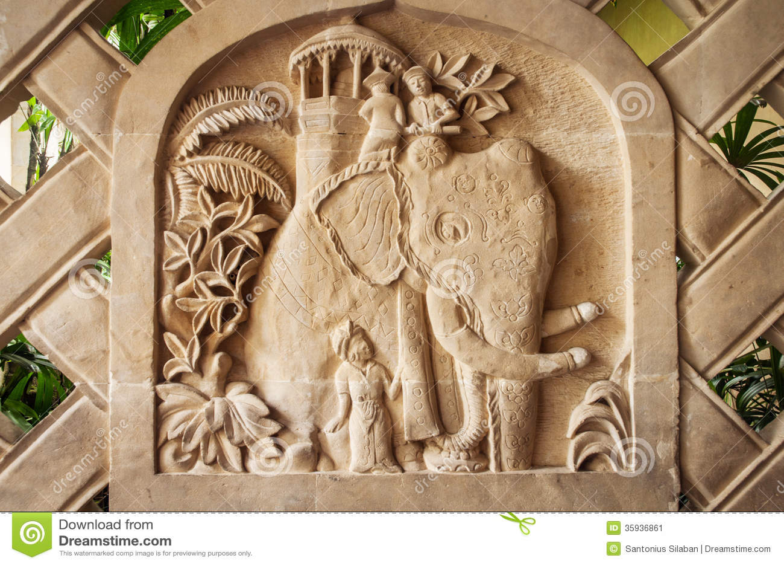 Bali limestone carving stock image