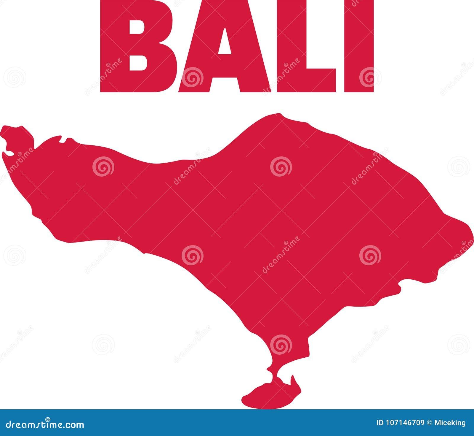 Bali Map Island Stock Vector Illustration Of Island 107146709