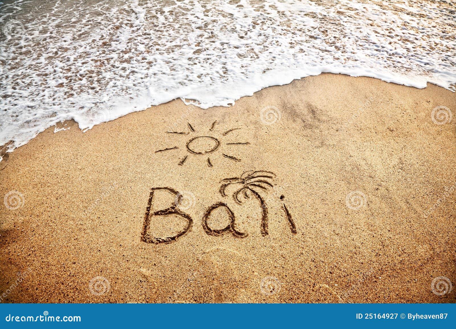 Bali na areia