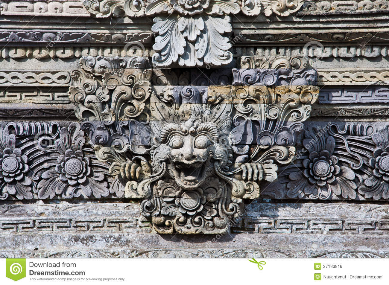 Bali stone sculpture royalty free stock image
