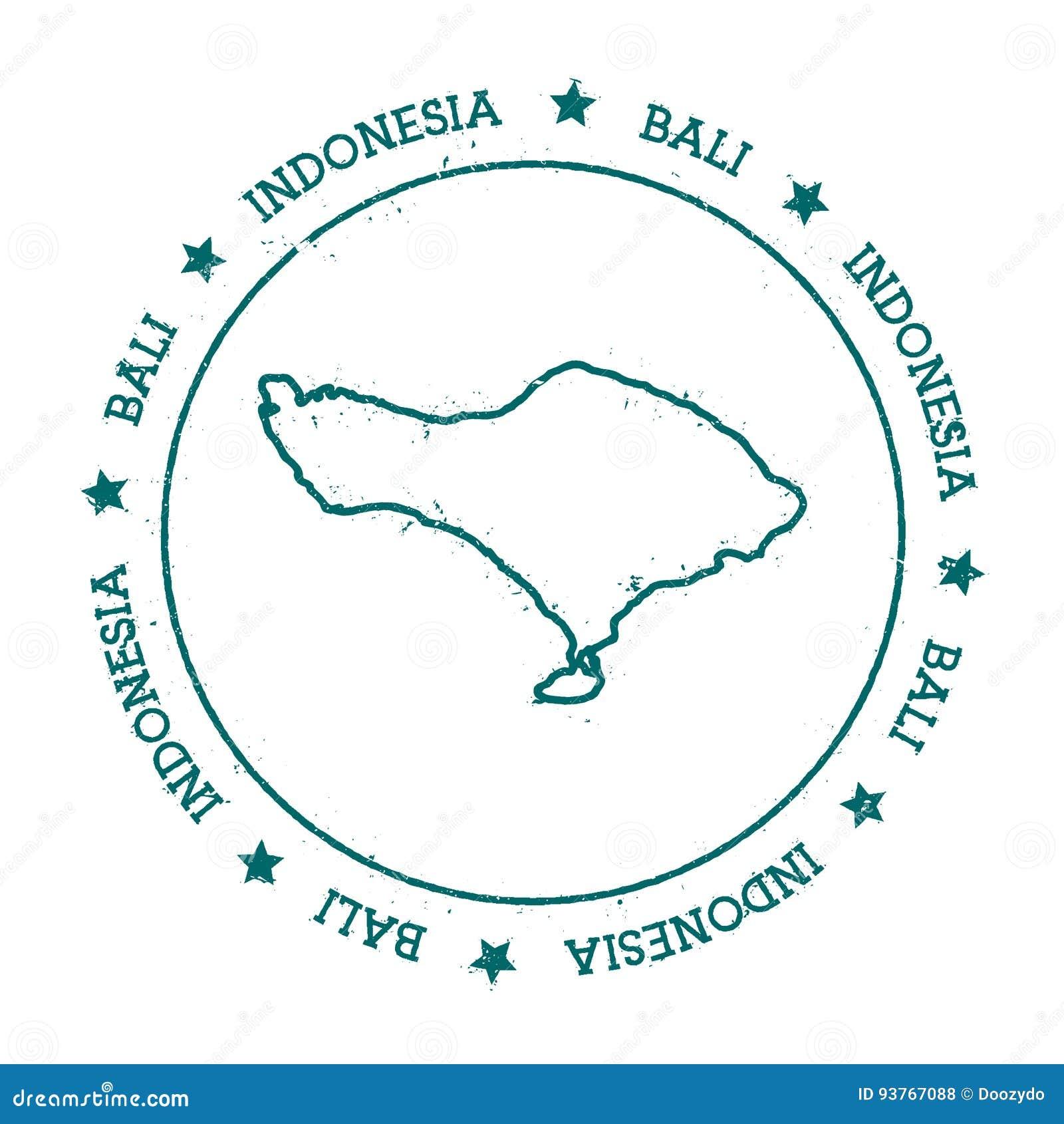 Bali Vector Map Stock Vector Illustration Of Bali Messy 93767088