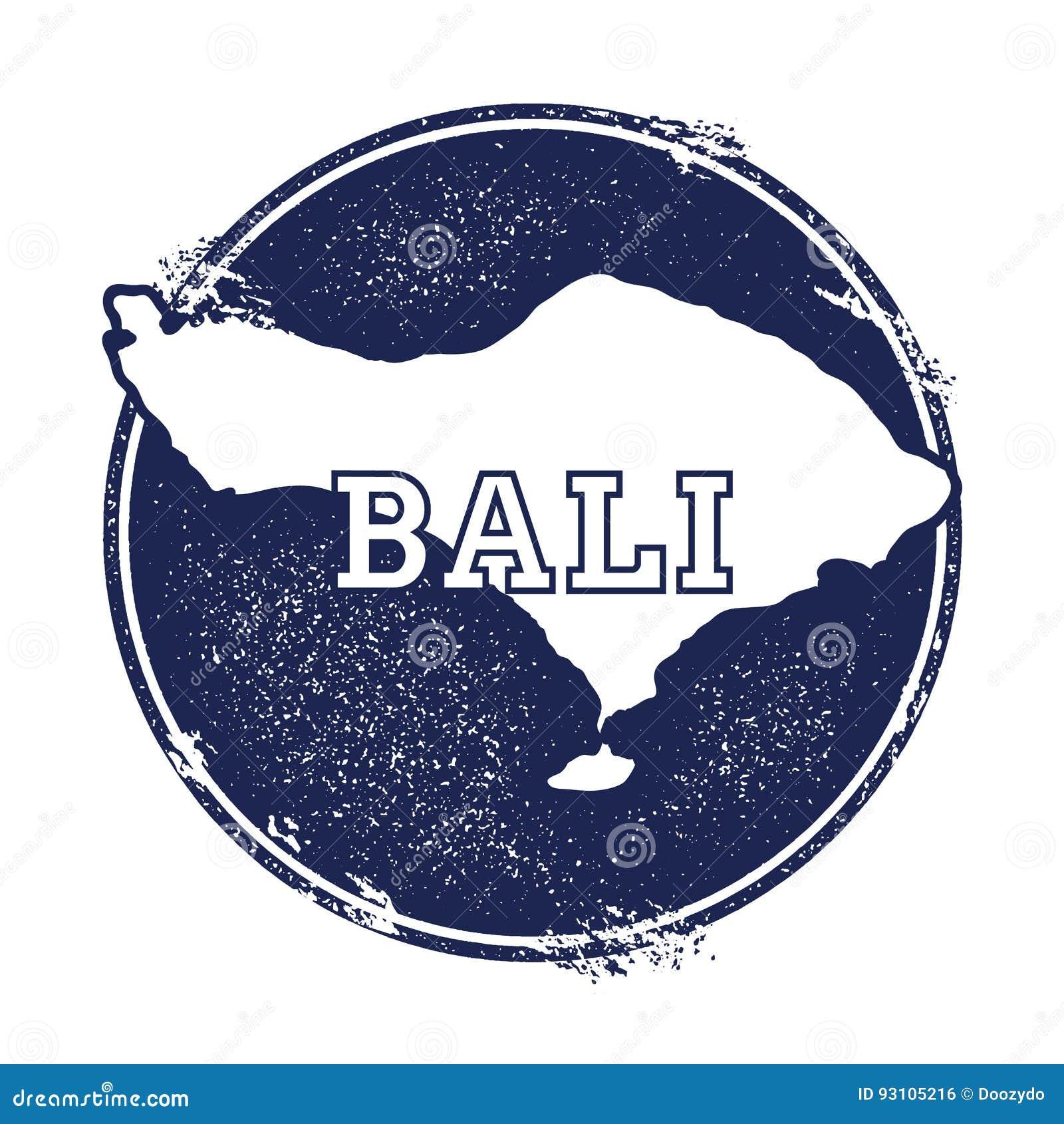 Bali Vector Map Stock Vector Illustration Of Badge 93105216