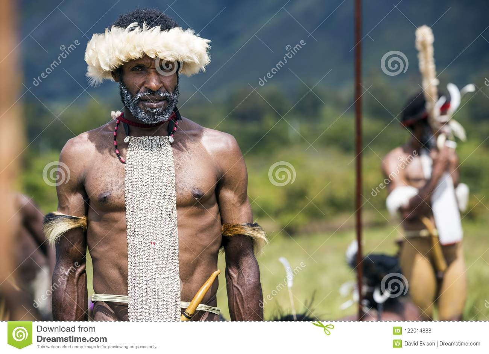 Dani tribesmen at the annual Baliem Valley Festival.