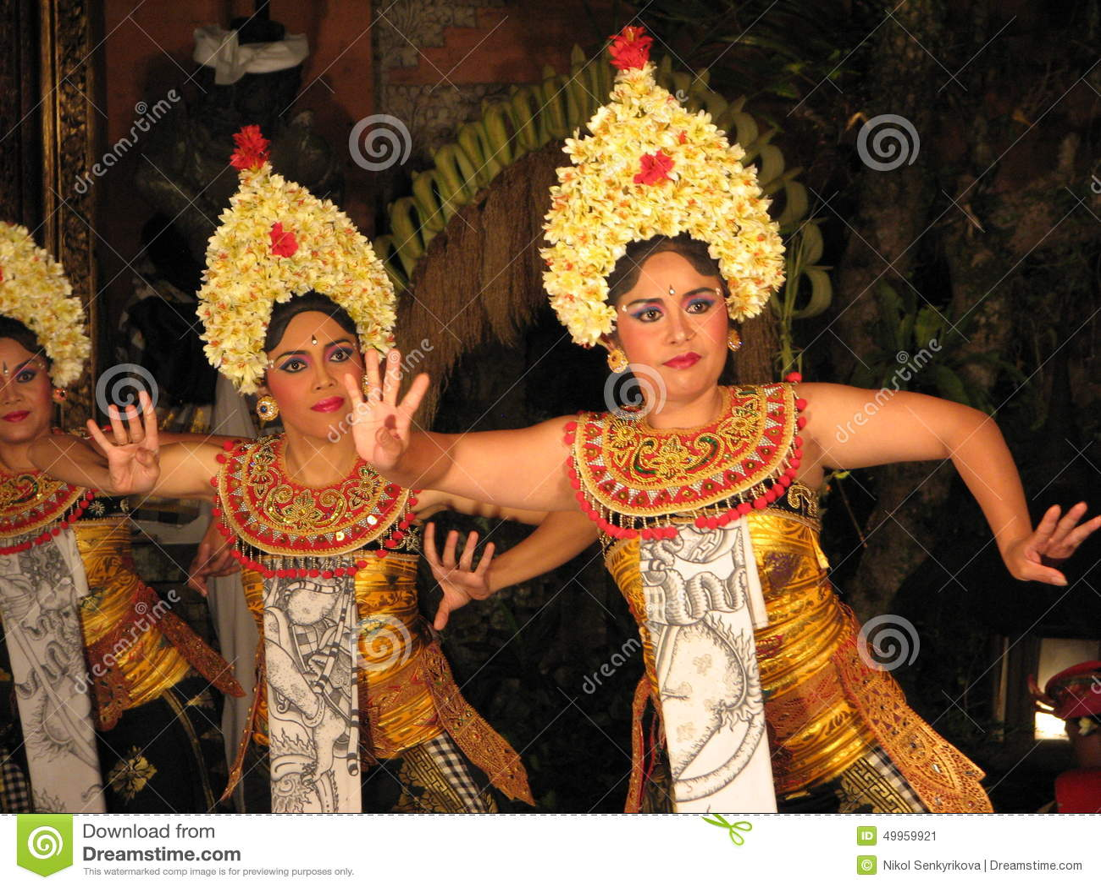Balijczyka Legong tancerze