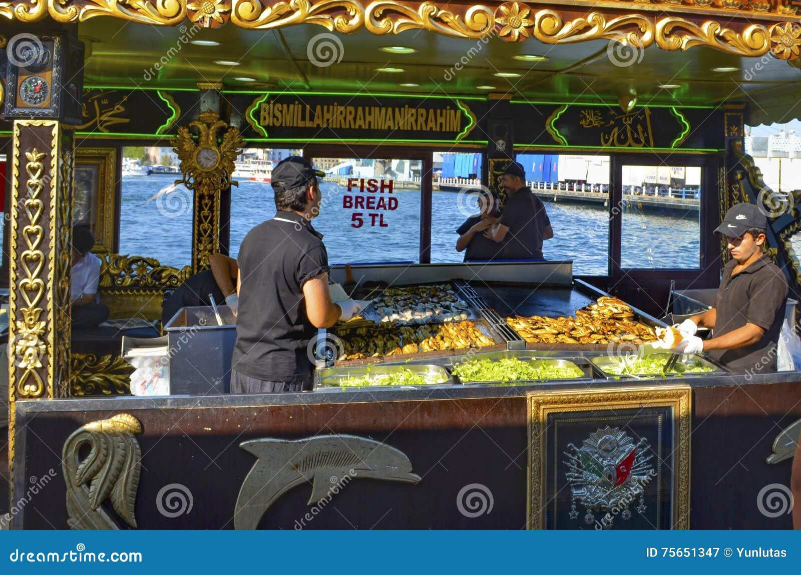 Mackerel fish sandwich balik ekmek turkish food stock for Dream interpretation fish