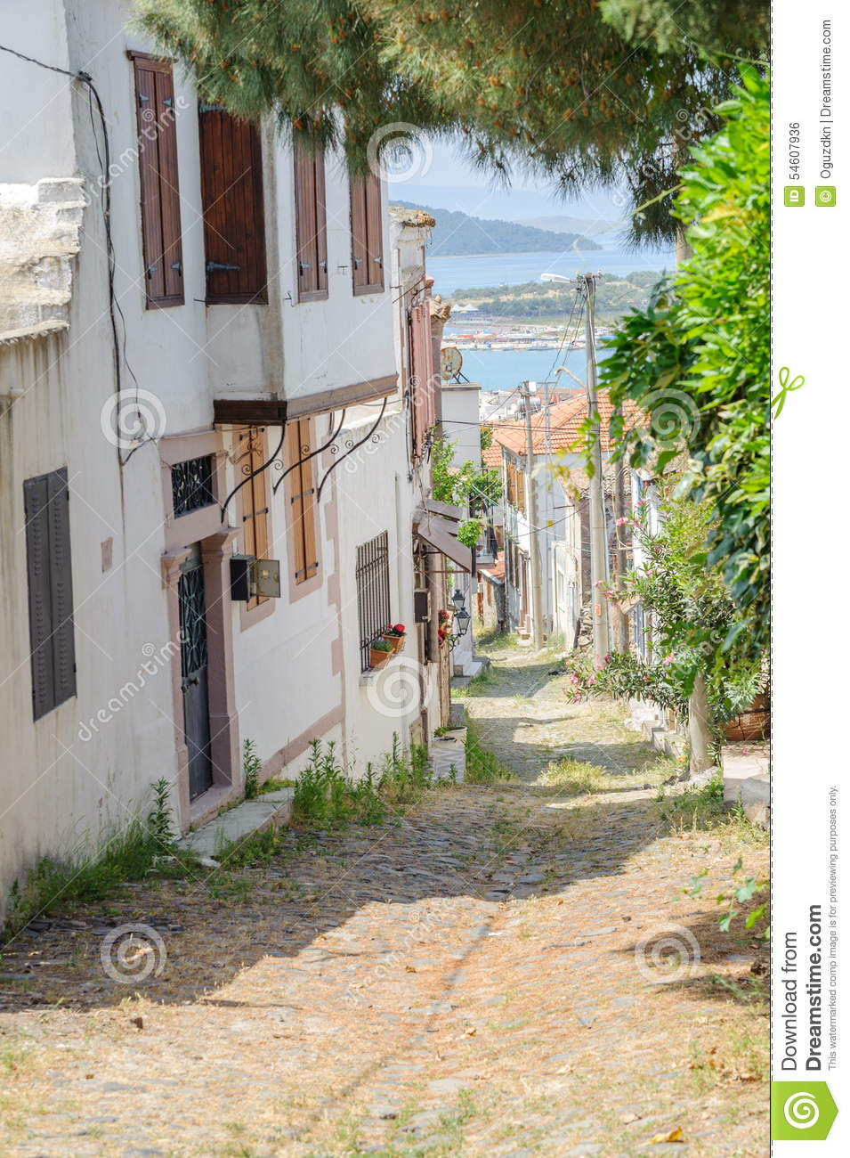Balikesir Turkey  city images : BALIKESIR, TURKEY MAY 18 2015: A narrow street of old touristic town ...