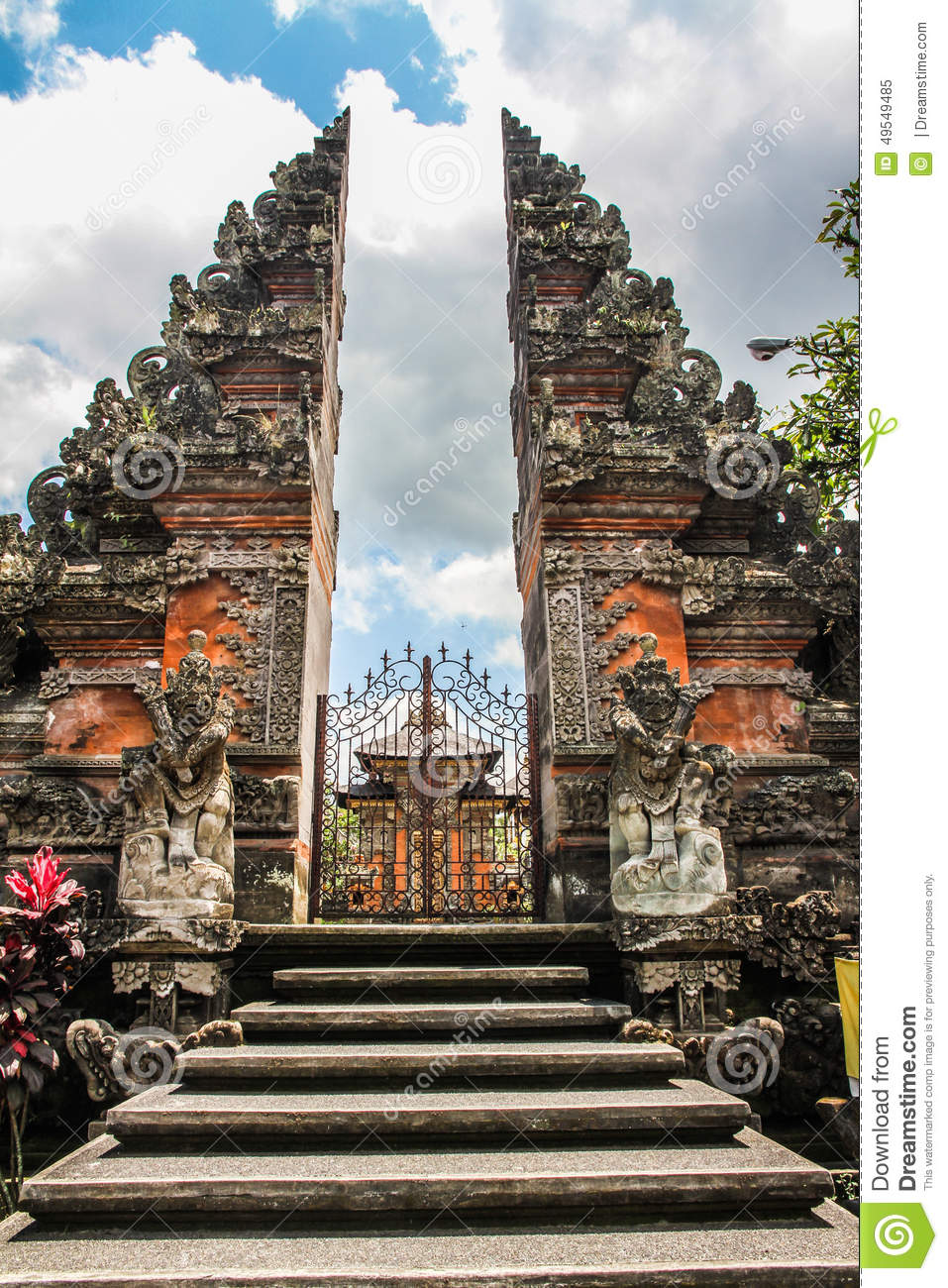 Balinese Hindu Temple The Stairs Gate And Temple Ubud
