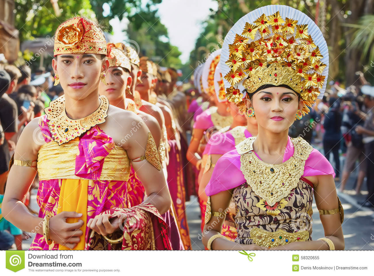 Balinese people in traditional costumes editorial image for Traditional photos