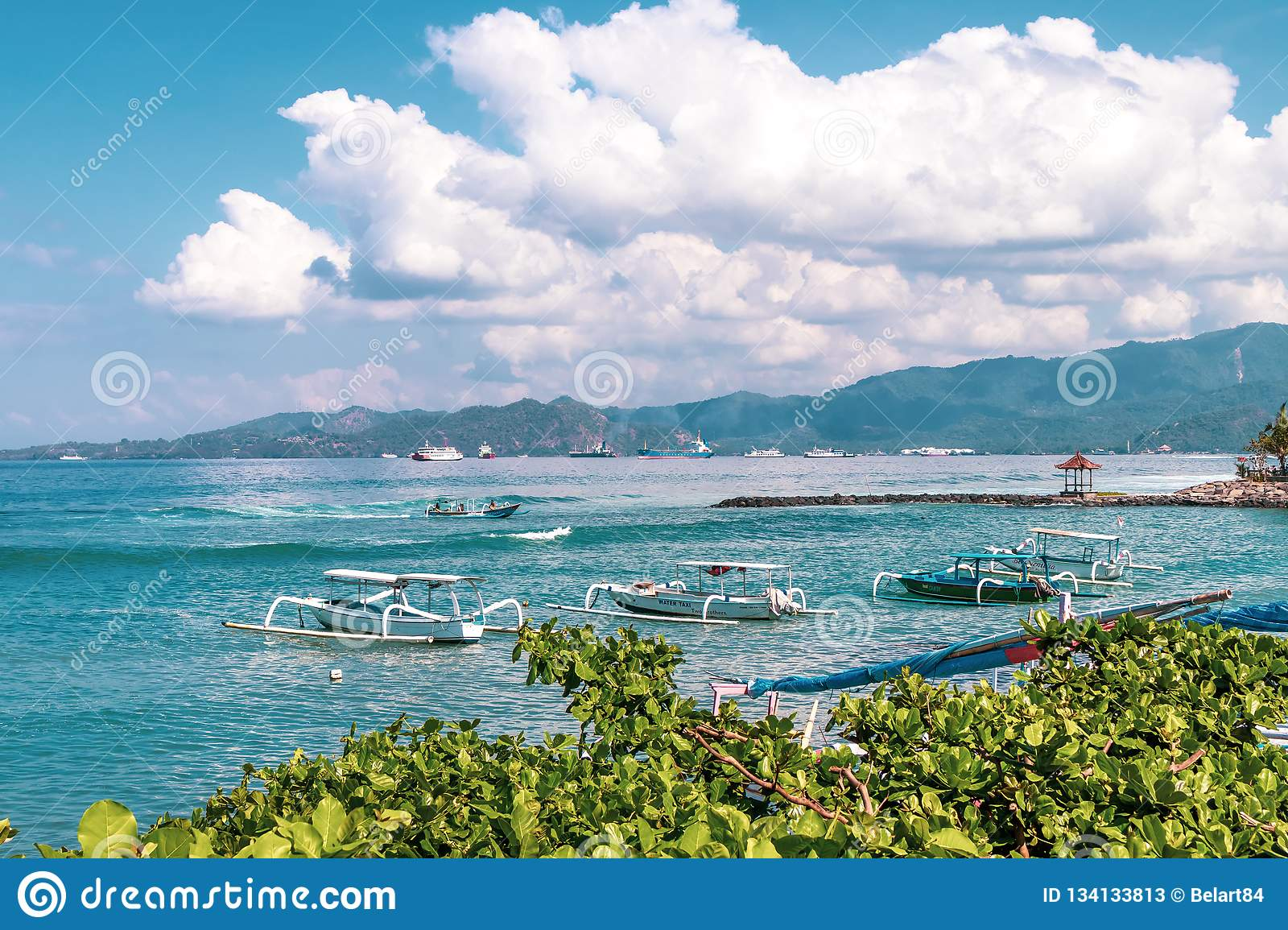 Balinese Seascape On The East Of Bali Island Indonesia Editorial