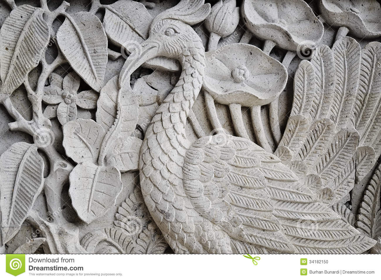 Balinese stone carving stock photo image